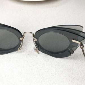 bbacbde3e81 Miu Miu Accessories - Miu Miu 63mm Layered Butterfly Sunglasses